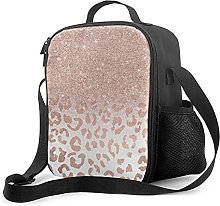 Bokueay Insulated Lunch Box,Rose Gold Glitter