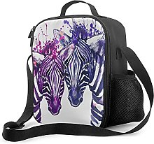 Bokueay Insulated Lunch Box,Watercolor Purple