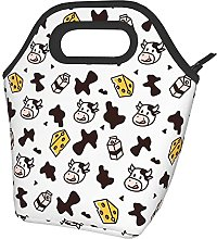 Bokueay Lunch Box Insulated Cow Skin Milk Cheese