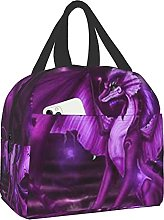 Bokueay Purple Dragon Portable Lunch Bag Insulated