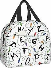 Bokueay Stranger Letter Things White Lunch Bag
