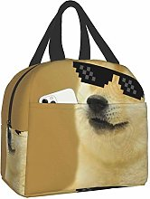 Bokueay Sunglsses Cool Doge Portable Lunch Bag