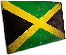 Bold Bloc Design Abstract Jamaican Flags 90x60cm