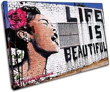 Bold Bloc Design Life Is Beautiful Banksy 90x60cm