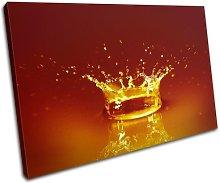 Bold Bloc Design Orange Water Splash Abstract