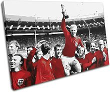 Bold Bloc Design Red England 1966 World Cup