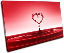 Bold Bloc Design Red Heart Water Splash Abstract