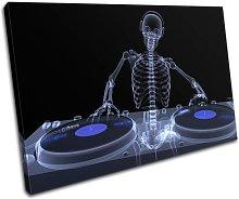 Bold Bloc Design Skeleton Music Dj & Club 90x60cm