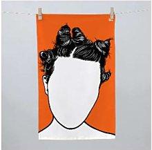 Bold & Noble - Bjork Tea Towel - Orange/Black/White