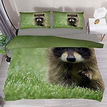 BOLIMAO 3 Pieces Cute Raccoon Baby Mammal Duvet
