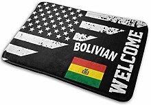 Bolivian Flag Indoor/Outdoor Antislip Door Mat for