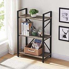BON AUGURE Bookshelf 3-TiersIndustrial Bookcase