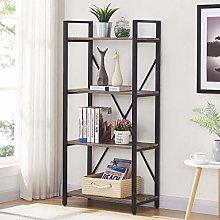 BON AUGUREIndustrial Bookshelf, Metal and Wood