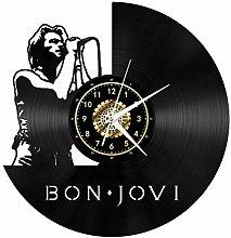 Bon Jovi Band Black Vinyl Record Wall Clock Wall