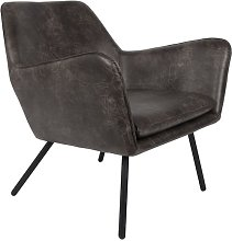 Bon Lounge armchair dark grey