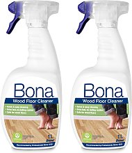 Bona 1L Wood Floor Cleaning Solution Spray - Pack