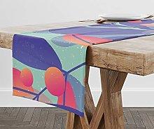 Bonamaison 100% Polyester Rectangle Table Runner,