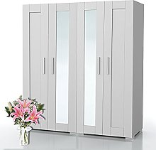 Bonamaison, Four Door Mirrored Wardrobe, Wardrobe,
