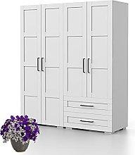 Bonamaison, Four Doors and Two Drawers Wardrobe,