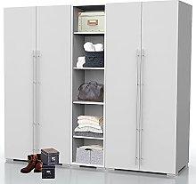 Bonamaison, Four Doors Middle Part Wardrobe,