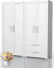 Bonamaison, Four Doors Two Drawers Wardrobe,