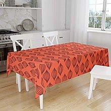 Bonamaison Kitchen Decoration, Tablecloth, Orange