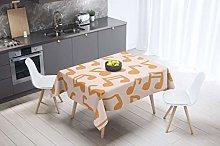 Bonamaison Kitchen Decoration, Tablecloth, Orange,
