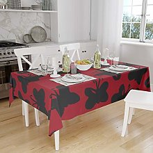 Bonamaison Kitchen Decoration, Tablecloth, Red