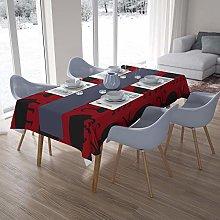 Bonamaison Kitchen Decoration, Tablecloth, Red