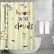 Bonamaison Shower Curtain, Polyester, Multicolor,