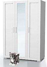 Bonamaison, Three Door Mirrored Wardrobe,