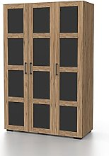Bonamaison, Three Door Wardrobe, Wardrobe, 18mm