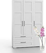 Bonamaison, Three Doors Two Drawers Wardrobe,