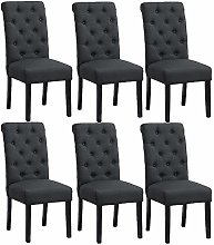 BonChoice Button Tufted Dining Chairs Set of 6