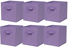 BonChoice Foldable Storage Cubes Boxes Pack of 6