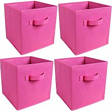 BonChoice Foldable Storage Cubes Boxes Set of 4