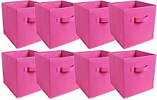 BonChoice Foldable Storage Cubes Boxes Set of 8