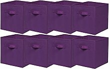 BonChoice Foldable Storage Cubes Boxes with Handle