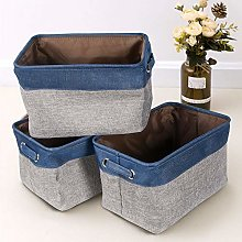 BonChoice Pack of 3 Foldable Fabric Storage Basket