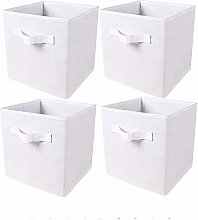 BonChoice Pack of 4 Foldable Storage Cubes Boxes