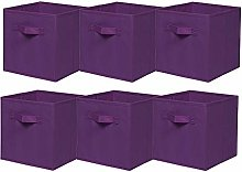 BonChoice Pack of 6 Foldable Storage Cubes Boxes