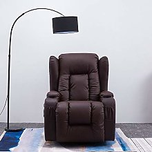 Bonded Leather Recliner Armchair Electric Jumbo