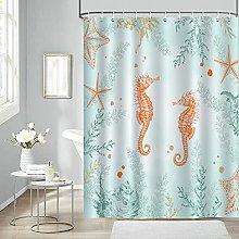 Bonhause Beach Seahorse Shower Curtain 180 x 180