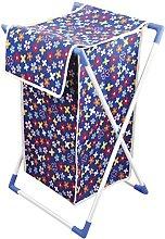 Bonita CESTA Laundry Basket, Blue Flower