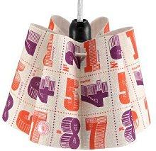 Bonjour Mon Coussin - Orange/Purple fabric
