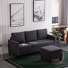 Bonnlo Corner Sofa, 3 Seater Sofas Small Corner