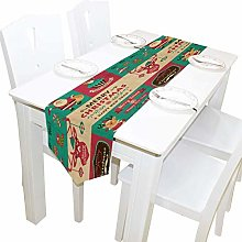 BONRI Table Runner, Christmas Tablecloth Runner
