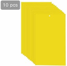 BonTime 10 Pack Dual-Sided Yellow Sticky Traps for