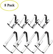 Boocy 8pcs Tablecloth Clips Stainless Steel Table