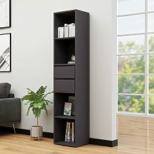 Book Cabinet Grey 36x30x171 cm Chipboard